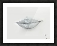 Mouth Picture Frame print