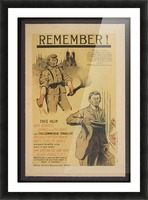 Vintage---Remember-the-Hun Picture Frame print