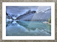 Lake Louise Winter Picture Frame print