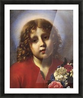 Child with flowers Picture Frame print