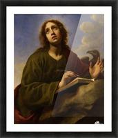 Saint John the Evangelist Writing the Book of Revelation Picture Frame print