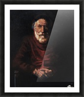 Old man Picture Frame print