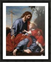 San Giuseppe mostra la croce a Gesu Bambino Picture Frame print