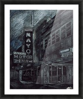 Mayo building Picture Frame print