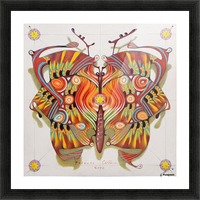 tribal butterfly Picture Frame print