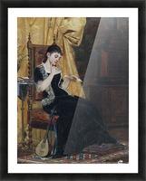 Junge Dame mit Brief Picture Frame print