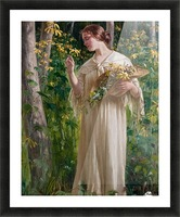 Lady in forest Picture Frame print