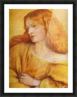 Woman in Yellow Picture Frame print