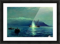 The sinking of the Turkish steamer Intibakh Picture Frame print