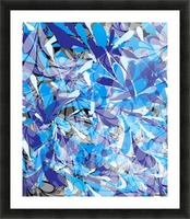 Abstract Floral Picture Frame print