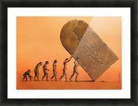 evolution Picture Frame print