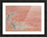 Red landscape Picture Frame print