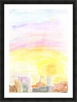 Sunset over the city Picture Frame print