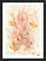 Frustration flames Picture Frame print