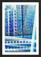 Glass and Concrete Towers_130515_14_183 HXSCYV Picture Frame print