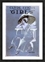 Girls Broadway Show Miss Kate Vintage Poster 1906 Picture Frame print