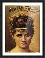 Vintage Cigarette Poster 1890 Picture Frame print