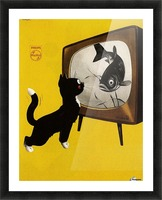 Dutch poster for Philips Tv, 1951 Picture Frame print