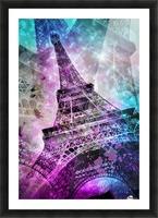 Pop Art Eiffel Tower Impression et Cadre photo