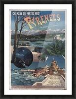 Chemins de fer du midi Pyrenees vintage poster Picture Frame print