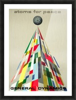Atoms for Peace poster Picture Frame print
