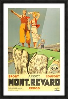 Original vintage poster from 1930 for Mont Revard in Savoie, France Picture Frame print