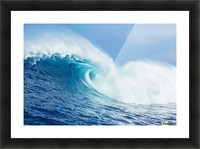 A large ocean wave breaks at the big wave spot know as Jaws or Peahi; Maui, Hawaii, United States of America Picture Frame print