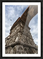 Relief on fortification wall; Thessaloniki, Greece Picture Frame print