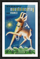 Mountaineering Choose France original vintage poster Picture Frame print