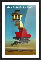 See Britain by Train, 1951 vintage poster Picture Frame print