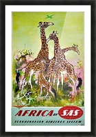 Scandinavian Airlines Africa by SAS original advertising poster Picture Frame print