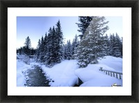 Snowy crossing Picture Frame print