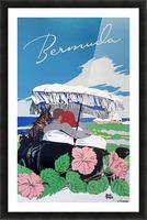 Bermuda Beach vintage travel poster Picture Frame print