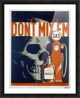 Dont mixem vintage poster Picture Frame print