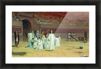 Christians in the arena Picture Frame print