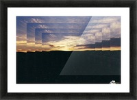 A  Manipulated Sunset Picture Frame print