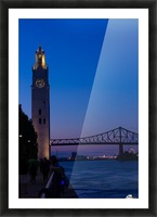 All Along the Clock Tower Picture Frame print