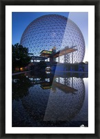 Reflections on Buckminster Picture Frame print
