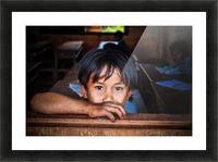 Deep dark eyes Picture Frame print