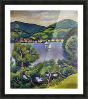 Tegern Sea landscape by August Macke Picture Frame print