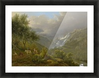 The Cascades at Tivoli, with a storm approaching Picture Frame print