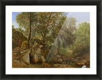 View in the Park of the Villa Chigi at Ariccia Picture Frame print