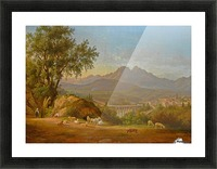 A view of cava dei Tirreni near Salerno, Italy Picture Frame print
