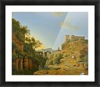 De golf van Napels met op de achtergrond het eiland Ischia Picture Frame print