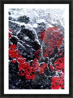 Red Cliff Picture Frame print