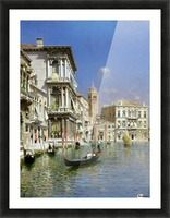 In the gondola Picture Frame print