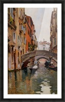 Gondola On a Venetian Canal Picture Frame print