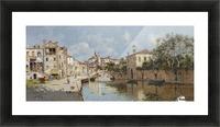 Venetian Canal Picture Frame print