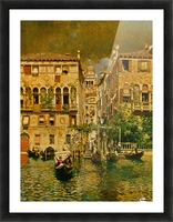 Leaving a Residence on the Grand Canal Picture Frame print
