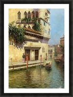 A Venetian Backwater Picture Frame print